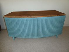 Original Vintage Lloyd Loom Blanket Box