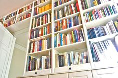 These 23 IKEA BILLY bookcase hacks share how you can transform your home with customized storage that fits your space, style, and budget.: Epic BILLY Bookcase Storage Hack