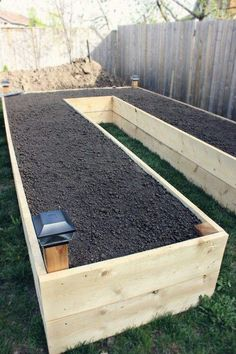 For my sore back, make it taller yet. Fill bottom with peanuts etc. and just fill top with good soil