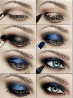 макияж глаз серо голубых
