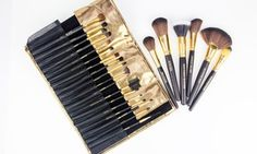 Groupon - 24 Piece Copper Pro Makeup Tool Kit in [missing {{location}} value]. Groupon deal price: $29.99