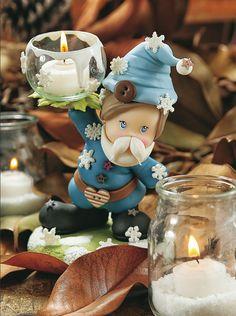 Porta velas - Porcelana Fría