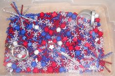4th of july sensory tub