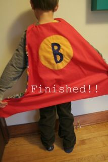 Directions to create a superhero cape , Great gift idea too.