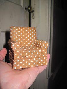 Bricolaje tapizada Mini Sillas y una recomendación del blog