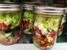 Snowmanlover's Paperie: SIMPLY SUNDAY~ SALADS IN MASON JARS