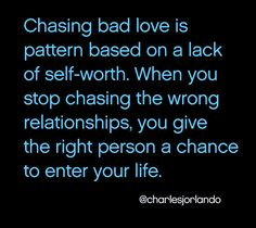 If you find your self in the wrong relationship over and over again... THIS »
