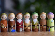 Snow White Toy 7 Dwarfs Toy Snow White and the 7 Dwarfs Peg