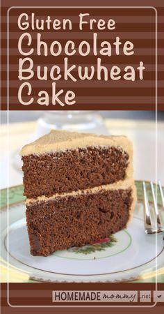 Gluten Free Chocolate Buckwheat Cake - Brilliant! No weird gluten free flour mixes at ALL! Decadent and Delicious! | www.homemademommy.net