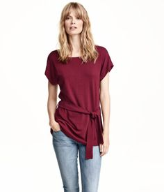 {Top With Belt - H&M - under $25} #fall2015