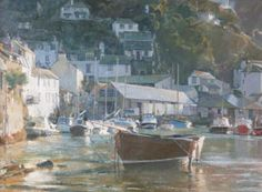 David Curtis, Ebbing Tide - Polperro Harbour