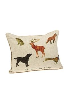 Orchid Country Animals Cushion - Homeware - Accessories - Brocklehursts