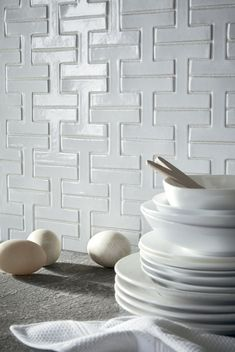 Chaine Homme in Mica,Fireclay Tile Interior Design Kitchen, Modern Interior, Fireclay Tile, Tuile, By Any Means Necessary, Bathroom Plans, Geometric Tiles, House Tiles, Wall Tiles