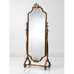 Shop the Traditional Cheval Mirror at Perigold, home to the design world's best furnishings for every style and space. Old Mirrors, Vintage Mirrors, Upholstered Platform Bed, Upholstered Dining Chairs, Cheval Mirror, Mirrors Online, Bedroom Vintage, Fine Furniture, Room Decor