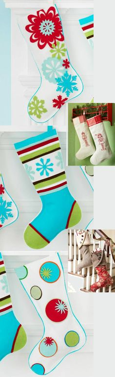 decorating with christmas stockings.
