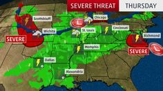Meteorologist Domenica Davis looks at the forecast for severe weather and widespread thunderstorms that will affect much of the U.S.