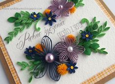 ArtLife Ideas Quilling, Quilling Flowers, Quilling Cards, Quilling Designs, Paper Quilling, Quilling Photo Frames, 3d Cards, Paper Crafts, Create