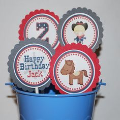Cowboy Cupcake Toppers  by Sharenmoments