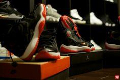 """Air Jordan XI """"Breds"""" 1996-2001-2012  #sneakerhead #kicks #collection #nike #jordan #alpha #airjordan #shoes #phat #sneakers #colorway #closet #room #michaeljordan"""