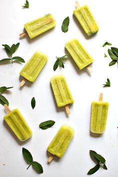 These pineapple cucumber mint popsicles are a frozen treat to pine for! With six simple ingredients, they make a healthy dessert for a warm day.