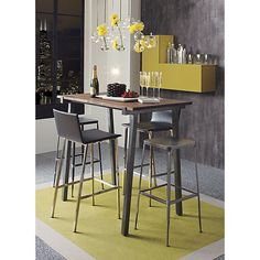 """phoenix carbon grey 24"""" counter stool in dining chairs, barstools 