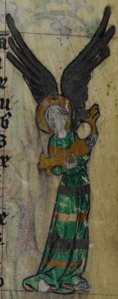 Detail from medieval manuscript, British Library Stowe MS 17 'The Maastricht Hours', f66r
