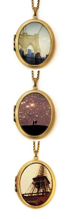 These timeless lockets feature gorgeous photography from around the world. | Made on Hatch.co