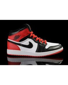 255c68034bc Nike Air Jordan 1 Retro BMP Split Mens Shoes White   Red   Black All kinds