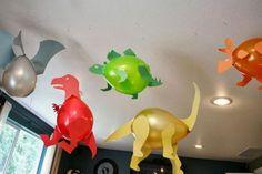 Dinosaures Utilisez du carton pour décorer des ballons Dinosaures! 5 MODÈLES À VOIR! - Bricolages - Trucs et Bricolages