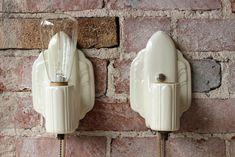 Pair of Ceramic Sconces - Sticks & Bricks