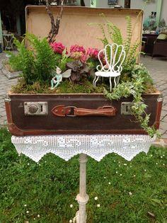 Koffergarten Outdoor Decor, Table, Furniture, Home Decor, Deko, Homemade Home Decor, Mesas, Home Furnishings, Desk