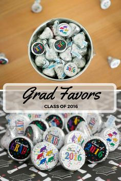 Go Bold with Colorful Caps, Stars and Confetti Design for your Graduate.