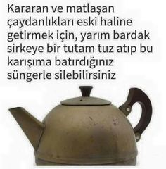 Çelik eşya temizliği Good To Know, Kettle, Cleaning Hacks, Karma, Helpful Hints, Life Hacks, Diy And Crafts, Sweet Home, Knowledge