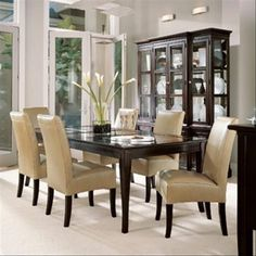 Dining Room Cream Stripes Futon Dining Chair Wooden Dining Table ...