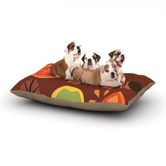 "Jane Smith ""Autumn Repeat"" Brown Bugs Dog Bed"
