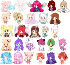 This Is Almost All Of The Mini Cheebs In Style 3 Ive Done So Far My Other Nbsp CArtwork KittenHime CCharacters Belong To