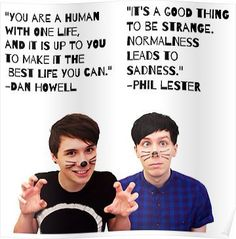 Dan and Phil Quotes Posters