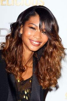 ombre hair for black women | Ombre Hair Style Chanel Iman