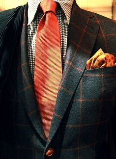 Mix up your patterns, but keep one constant color theme woven throughout your ensemble.