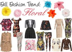 """""""Fall Fashion Trend: Floral"""" by ltretail on Polyvore"""