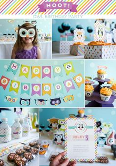 Hoot! Owl Themed Party Jacksyn's 1st Bday
