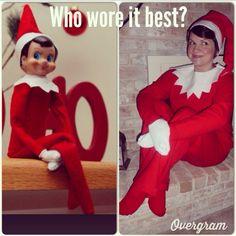 DIY Elf on the shelf costume idea!