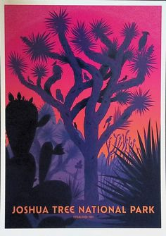 National Park Posters, Joshua Tree National Park, Us National Parks, Screen Print Poster, Poster Prints, Vintage Travel Posters, My New Room, Local Artists, Art Inspo
