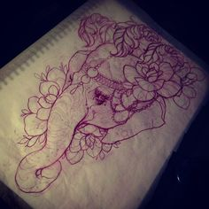 elephant tattoo idea. I think I have to have this.