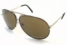 PORSCHE DESIGN P8478 A Sunglasses P'8478 Light Gold Frame Porsche Design. $379.00