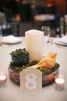 Whimsical Centerpiece Idea - Succulent Centerpiece - Blest Photography - NC Wedding Planner - Orangerie Events