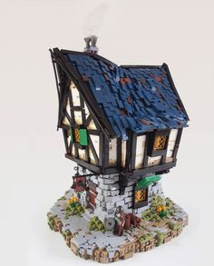Daniel Hensel builds beautiful medieval LEGO houses inspired by the Lord of the Rings and other fantasy worlds.