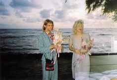 courtney love, kurt cobain wedding