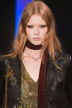 Saint Laurent bold #Eyeliner Imaxtree  - HarpersBAZAAR.com