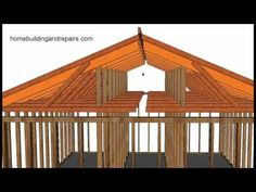 How To Convert Existing Truss Roof Flat Ceiling To Vaulted Ceiling Using Rafters, Post and Beam - YouTube